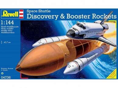 Revell - Space Shuttle Discovery & Booster, Scale: 1/144, 04736