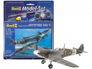 Revell - Spitfire Mk V dovanų komplektas, Mastelis: 1/72, 64164