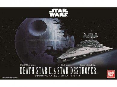Revell - Star Wars Death Star II (1/2700000) & Star Destroyer (1/14500), 01207