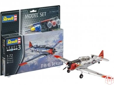 Revell - Model Set T-6 G Texan Model Set, Scale: 1/72, 63924