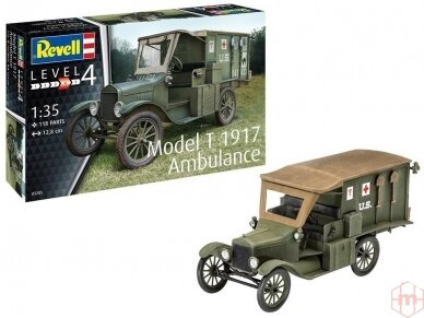 Revell - Model T 1917 Ambulance, Scale: 1/35, 03285