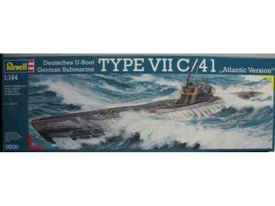 Revell - U-Boat Typ VIIC/41, Mastelis: 1/144, 05100
