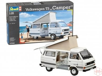 Revell - Volkswagen T3 Camper, Scale: 1/25, 07344