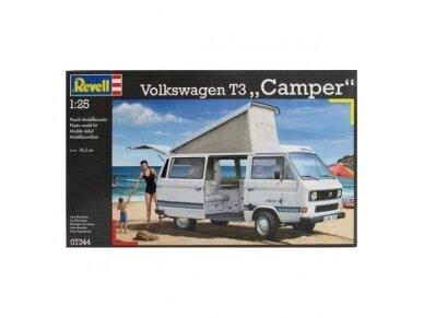 Revell - Volkswagen T3 Camper, Scale: 1/25, 07344 2