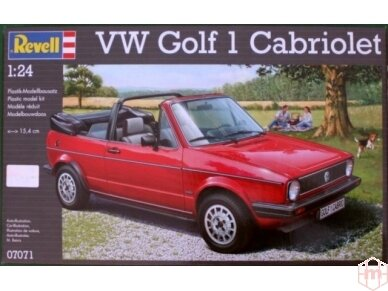 Revell - Volkswagen VW Golf 1 Cabriolet, Mastelis: 1/24, 07071