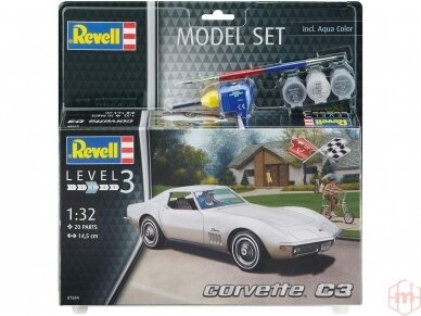 Revell - Corvette C3 dovanų komplektas, 1/32, 67684