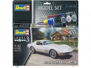 Revell - Corvette C3 dovanų komplektas, Mastelis: 1/32, 67684