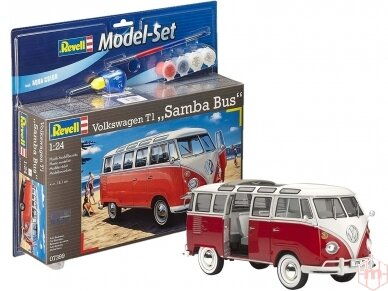 Revell - VW T1 Samba Bus Model Set, Scale: 1/24, 67399