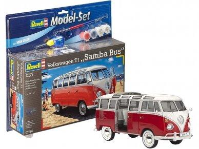 Revell - VW T1 Samba Bus dovanų komplektas, Mastelis: 1/24, 67399