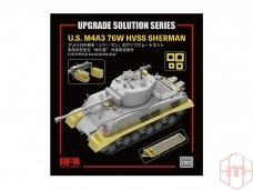 Rye Field Model - Upgrade Solution for U.S. M4A3 76W HVSS Sherman (for RM-5028/RM-5042), 1/35, RM-2002