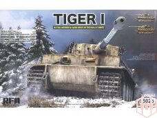 Rye Field Model - German Tiger I Early Production Wittmann's Tiger No. 504 with full interior and clear parts with workable tracks, 1/35, RFM-5025