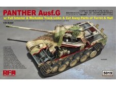 Rye Field Model - Panther Ausf.G with Full Interior & Cut Away Parts, Scale: 1/35, RFM-5019