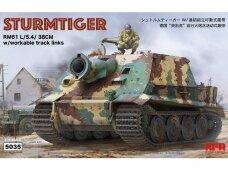 Rye Field Model - Sturmtiger w/Workable Track Links, Mastelis: 1/35, RFM-5035