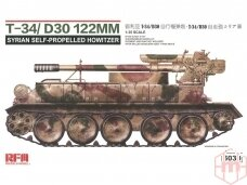 Rye Field Model - T-34/D30 122mm Syrian Self-Propelled Howitzer, Scale: 1/35, RFM-5030