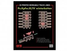 Rye Field Model - Workable track links for Pz.III/IV winterketten (3D Printed), 1/35, RM-2018