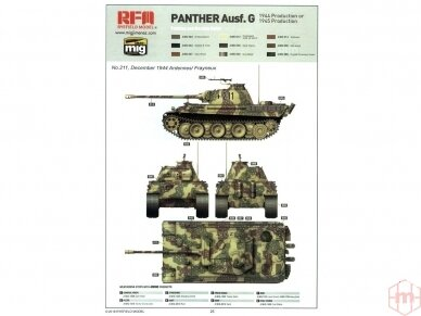 Rye Field Model - Panther Ausf.G Early / Late, 1/35, RFM-5018 12