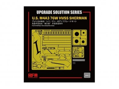 Rye Field Model - Upgrade Solution for U.S. M4A3 76W HVSS Sherman (for RM-5028/RM-5042), 1/35, RM-2002 2