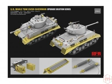 Rye Field Model - Upgrade Solution for U.S. M4A3 76W HVSS Sherman (for RM-5028/RM-5042), 1/35, RM-2002 3