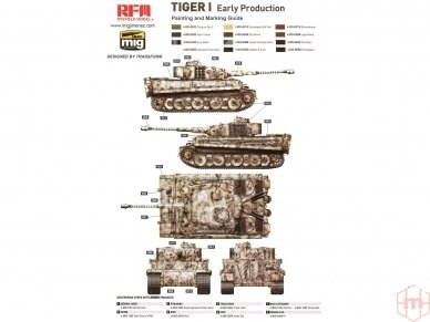 Rye Field Model - German Tiger I Early Production Wittmann's Tiger No. 504 with full interior and clear parts with workable tracks, Scale: 1/35, RFM-5025 8