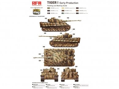 Rye Field Model - German Tiger I Early Production Wittmann's Tiger No. 504 with full interior and clear parts with workable tracks, Scale: 1/35, RFM-5025 9