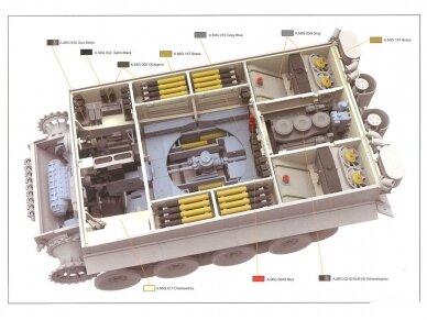"Rye Field Model - German Tiger I Early Production Wittmann's Tiger No. 504 su pilnu interjeru ir skaidriomis dalimis, ""veikiantys"" vikšrai, Mastelis: 1/35, RFM-5025 12"