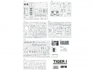 Rye Field Model - German Tiger I Early Production Wittmann's Tiger No. 504 with full interior and clear parts with workable tracks, Scale: 1/35, RFM-5025 14