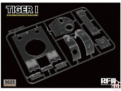 Rye Field Model - German Tiger I Early Production Wittmann's Tiger No. 504 with full interior and clear parts with workable tracks, Scale: 1/35, RFM-5025 16