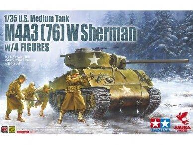ASUKA - M4A3 (76) W Sherman w/Figure, Mastelis: 1/35, 35048