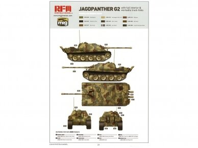 Rye Field Model - Jagdpanther G2 with Full Interior and Workable Track Links, Mastelis: 1/35, RFM-5022 19