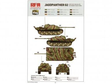 Rye Field Model - Jagdpanther G2 with Full Interior and Workable Track Links, Mastelis: 1/35, RFM-5022 20