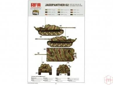 Rye Field Model - Jagdpanther G2 with Full Interior and Workable Track Links, Scale: 1/35, RFM-5022 20