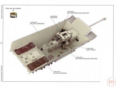 Rye Field Model - Jagdpanther G2 with Full Interior and Workable Track Links, Mastelis: 1/35, RFM-5022 21