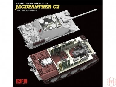 Rye Field Model - Jagdpanther G2 with Full Interior and Workable Track Links, Scale: 1/35, RFM-5022 5