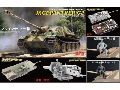 Rye Field Model - Jagdpanther G2 with Full Interior and Workable Track Links, Mastelis: 1/35, RFM-5022 2