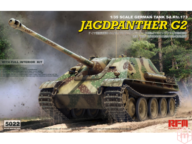 Rye Field Model - Jagdpanther G2 with Full Interior and Workable Track Links, Scale: 1/35, RFM-5022