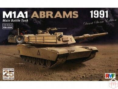 "Rye Field Model - M1A1 Abrams ""Desert Storm edition 1991"", Scale: 1/35, RFM-5006"