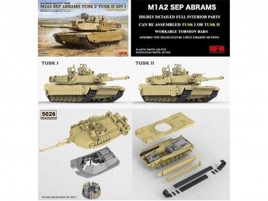 Rye Field Model - M1A2 SEP Abrams TUSK I /TUSK II su pilnu interjeru, Mastelis: 1/35, RFM-5026 3