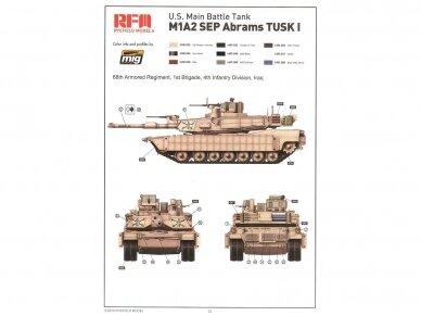 Rye Field Model - M1A2 SEP Abrams TUSK I /TUSK II su pilnu interjeru, Mastelis: 1/35, RFM-5026 15