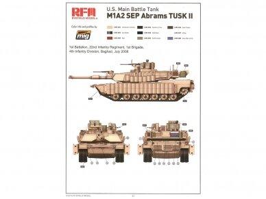 Rye Field Model - M1A2 SEP Abrams TUSK I /TUSK II su pilnu interjeru, Mastelis: 1/35, RFM-5026 16