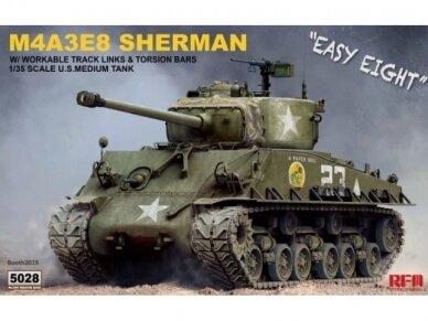 Rye Field Model - M4A3E8 Sherman w/Workable Track Links, Scale: 1/35, RFM-5028