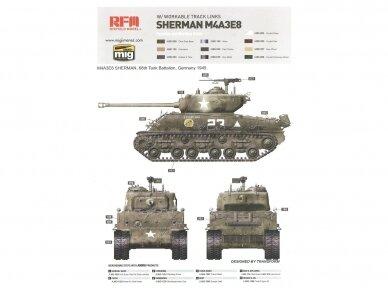 Rye Field Model - M4A3E8 Sherman w/Workable Track Links, Mastelis: 1/35, RFM-5028 11