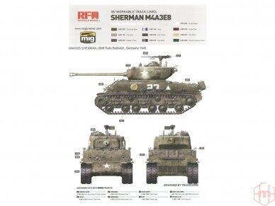 Rye Field Model - M4A3E8 Sherman w/Workable Track Links, Scale: 1/35, RFM-5028 11