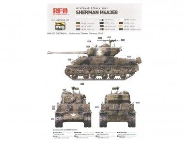 Rye Field Model - M4A3E8 Sherman w/Workable Track Links, Scale: 1/35, RFM-5028 12