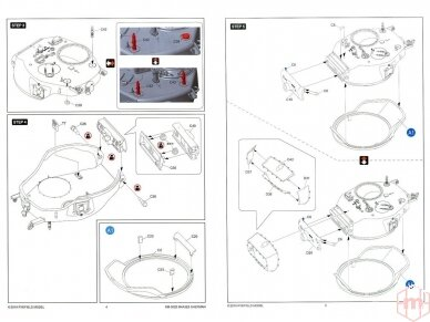 Rye Field Model - M4A3E8 Sherman w/Workable Track Links, Mastelis: 1/35, RFM-5028 14