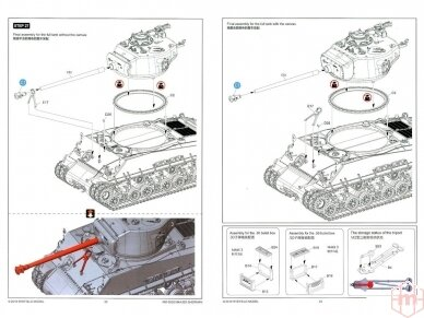 Rye Field Model - M4A3E8 Sherman w/Workable Track Links, Scale: 1/35, RFM-5028 23