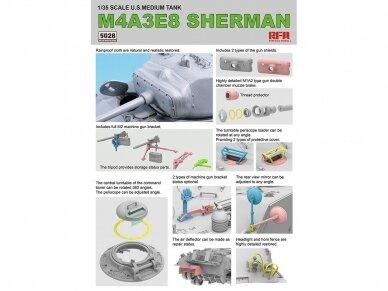 Rye Field Model - M4A3E8 Sherman w/Workable Track Links, Scale: 1/35, RFM-5028 4