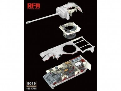 Rye Field Model - Panther Ausf.G with Full Interior & Cut Away Parts, Mastelis: 1/35, RFM-5019 2