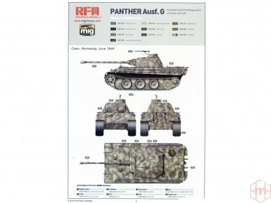 Rye Field Model - Panther Ausf.G with Full Interior & Cut Away Parts, Mastelis: 1/35, RFM-5019 18