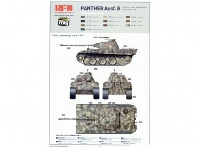 Rye Field Model - Panther Ausf.G with Full Interior & Cut Away Parts, Scale: 1/35, RFM-5019 18