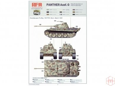 Rye Field Model - Panther Ausf.G with Full Interior & Cut Away Parts, Mastelis: 1/35, RFM-5019 19